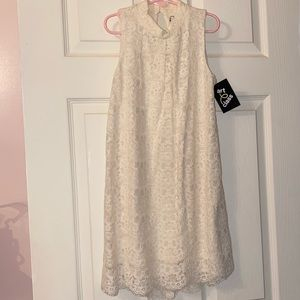 6/6X cream lace sleeveless dress. New with tag